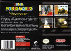 super mario world snes box art back cover