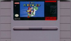 super mario world snes cartridge