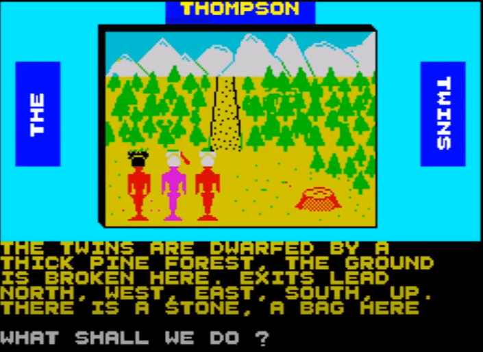 Thompson Twins Adventure game