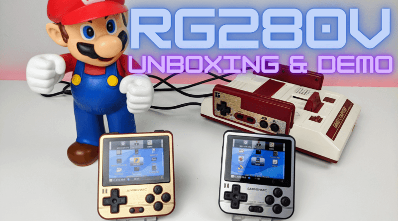RG280V Retro Gaming Handheld Unboxing & Demo