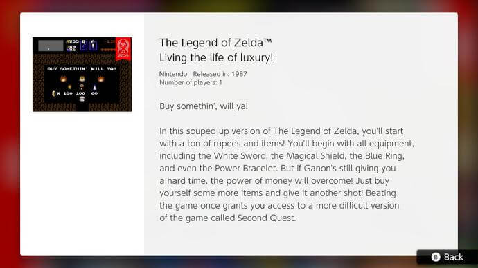 Zelda Life of Luxary Switch