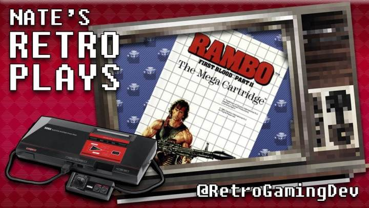 Rambo First Blood Part 2 on the Sega Master System | Nate's RetroPlays