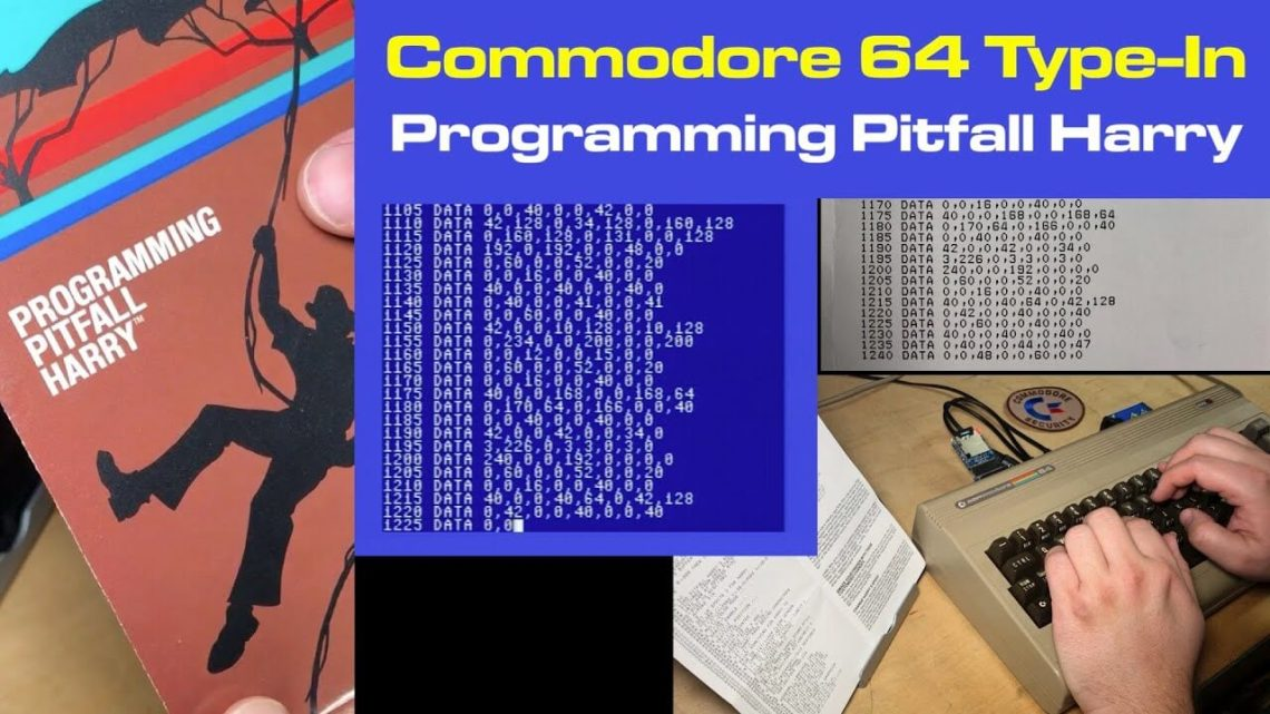 """Typing in """"Programming Pitfall Harry"""" for C64"""