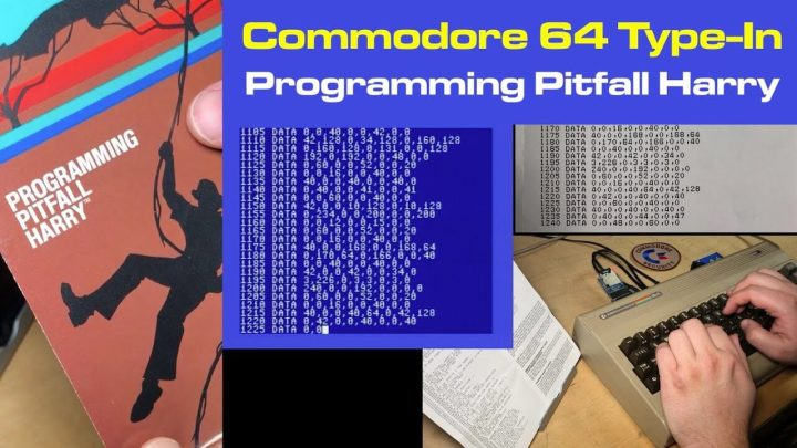 "Typing in ""Programming Pitfall Harry"" for C64"