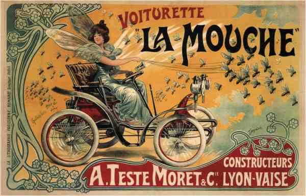 Vintage Auto Poster Francisco Tamagno