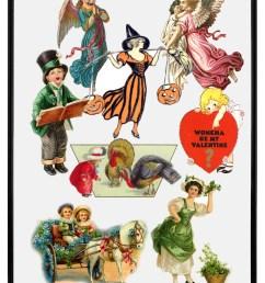 victorian holiday clip art [ 1006 x 1328 Pixel ]