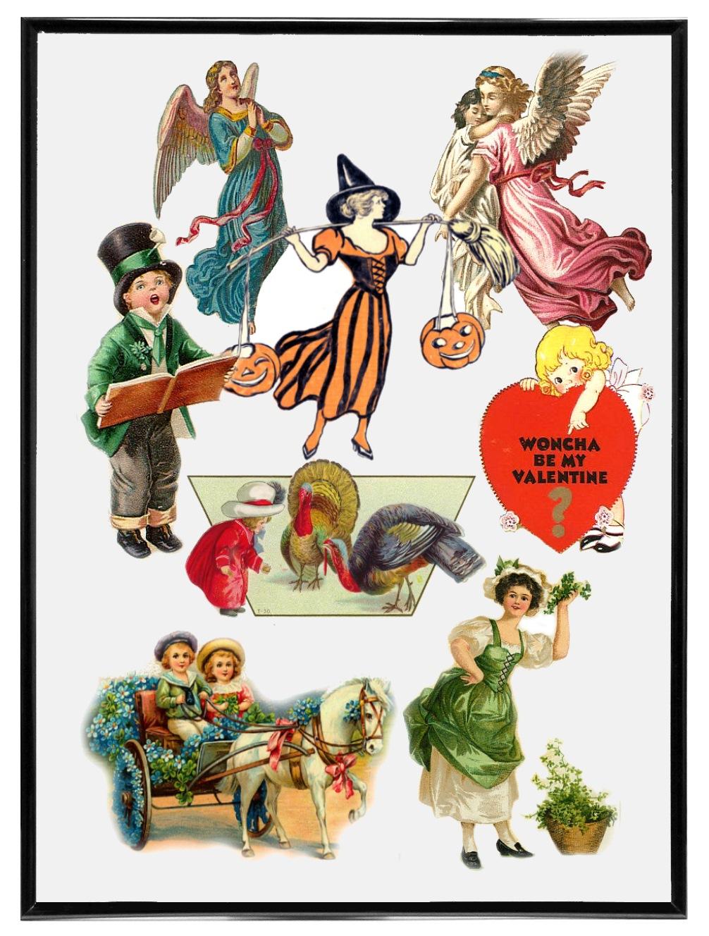 hight resolution of victorian holiday clip art