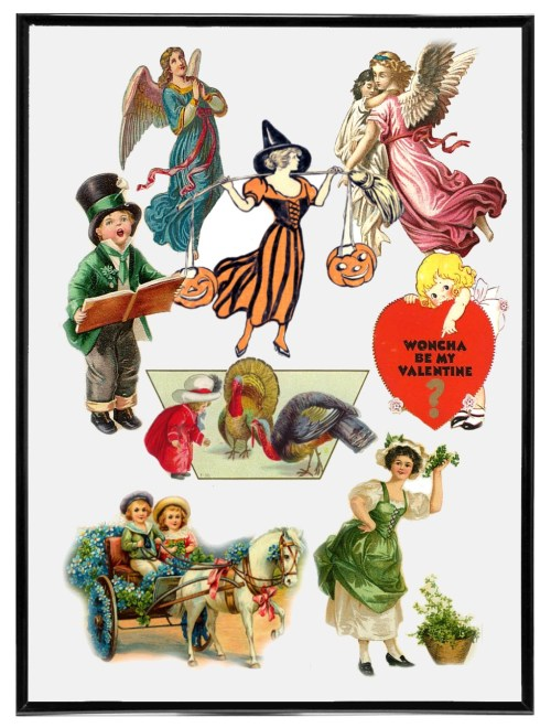 small resolution of victorian holiday clip art