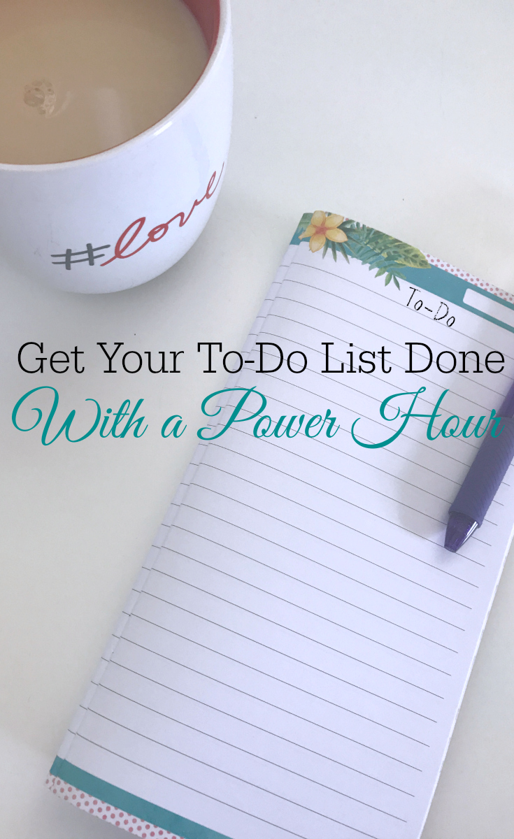 Get your to-do list down with a power hour, power hour cleaning, cleaning motivation, time management