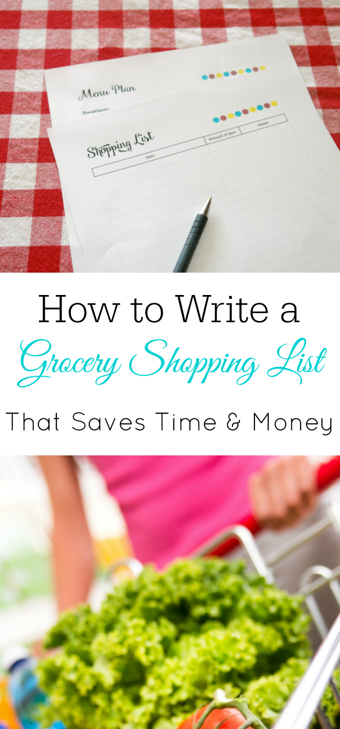How To Save Money With Your Grocery Shopping List, Write A Shopping List,  Meal