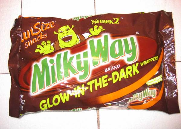 Glowing Candy Wrappers for Halloween