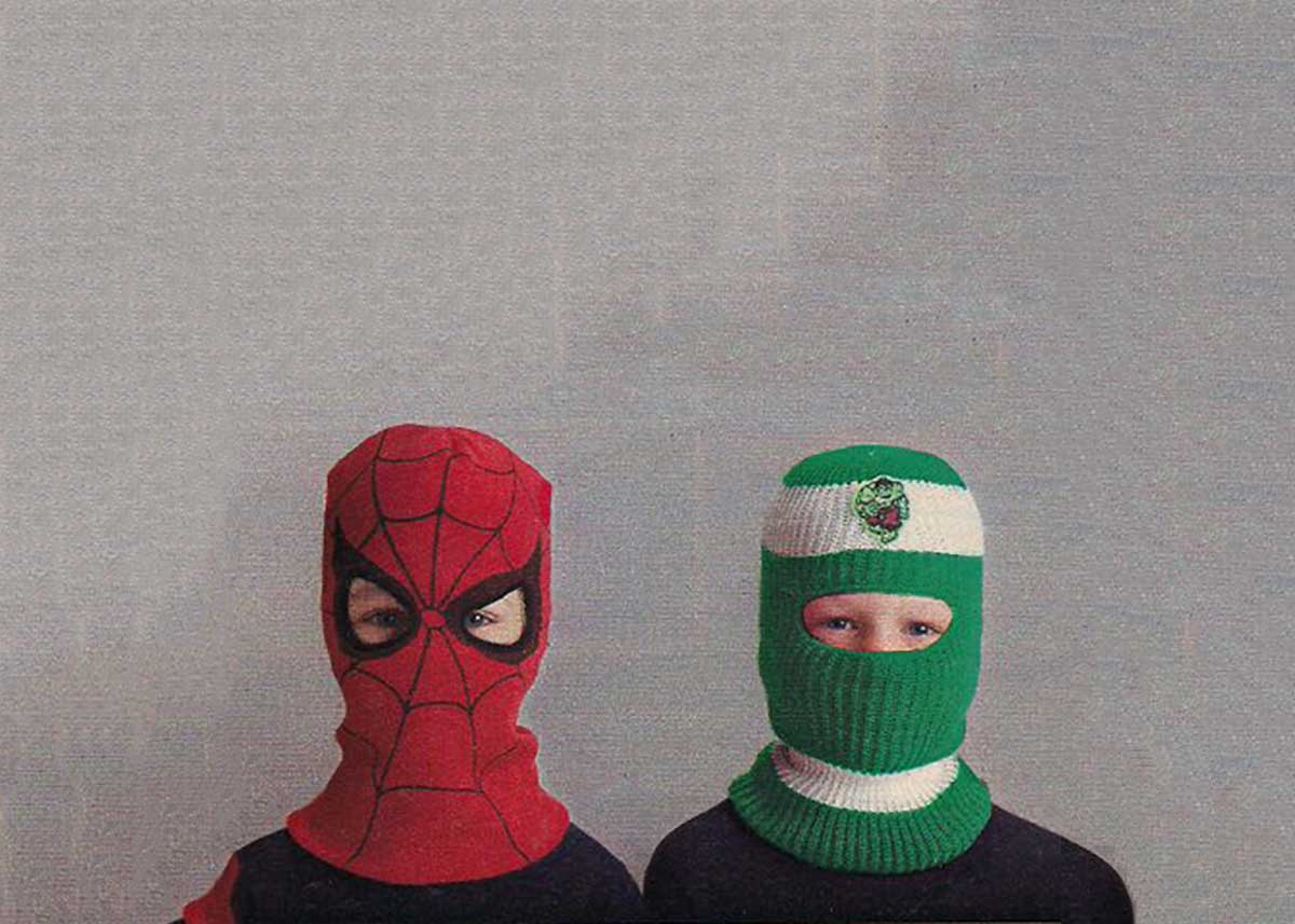 Which Ski Mask will keep you Warmer?  Spider-Man or The Hulk?