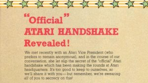 Do you know the Official Atari Handshake?