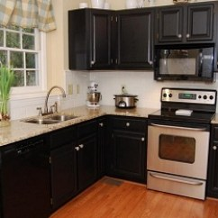 Black Kitchen Appliances Cabinet Brands How To Decorate A With