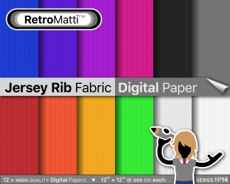 jersey rib fabric digital paper Listing Graphic