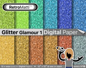 Glitter Glamour  No digital paper Listing Graphic