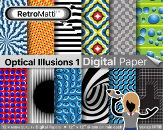 Optical Illusions  No digital paper Listing Graphic