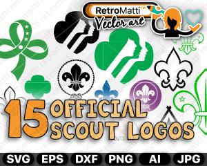 retromatti w part  scouts logos