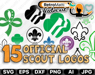 retromatti w part  scouts logos