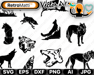 retromatti w part  wolf depictions