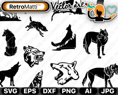 retromatti w part  wolf depictions