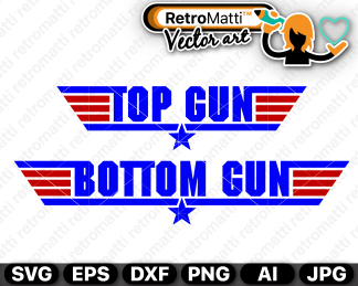 retromatti w part top gun bottom gun
