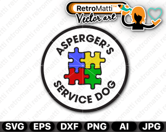 retromatti w part aspergers service dog