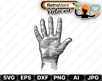 retromatti w part woodcut hand