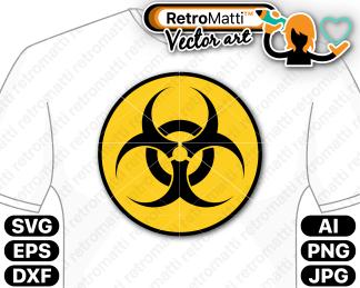 retromatti w part biohazard symbol