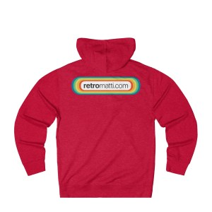 Retromatti.com Rainbow Logo on Back Unisex French Terry Hoodie