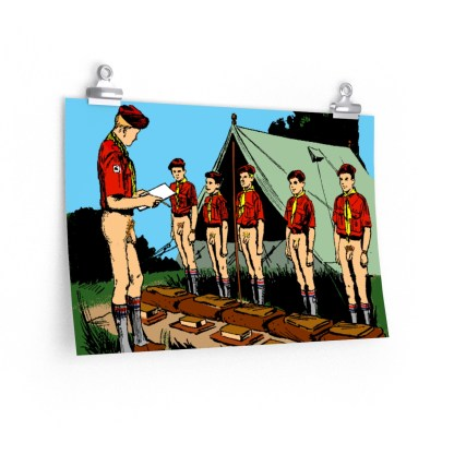 Retro graphic Boy Scout Naked Inspection