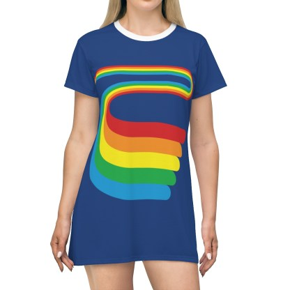 AVerysRainbowShirtDress