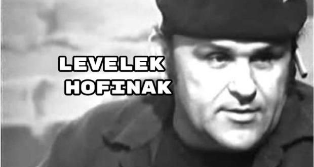 Levelek Hofinakcímmel rövid írás jelent meg a Népszavában.