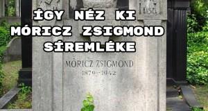 Így néz ki Móricz Zsigmond síremléke