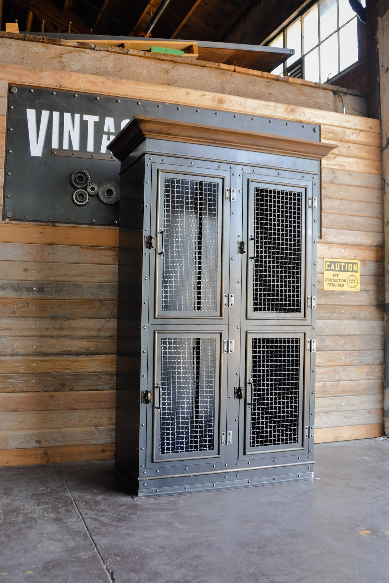retro kitchen tables cabinets michigan vintage industrial armoire – furniture