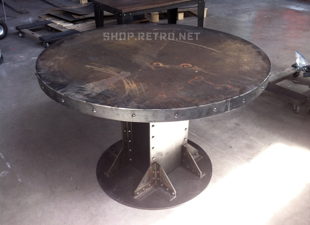 steel chair in wwe patio chairs for fire pit i beam table gallery  vintage industrial furniture