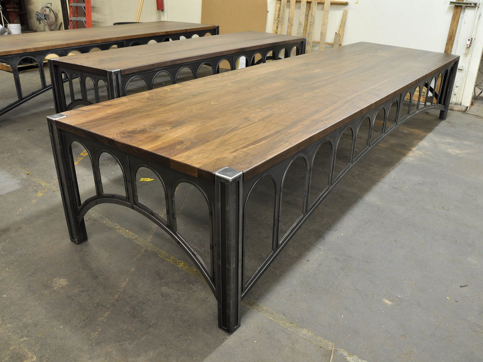 Walnut 42 Desks  Vintage Industrial Furniture