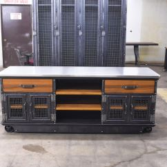 Kitchen Chairs With Casters Home Depot Lights Boxcar Ellis Console Teak And Stainless – Model #e53 ...