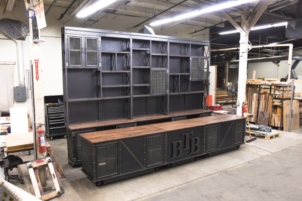 Vintage Industrial Retail Shelf And Counter