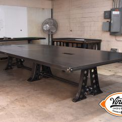 Kitchen Chairs On Casters Ergonomic Chair Settings A Frame Conference Table With Data Port And Wiring Chase – Model #af22 Vintage Industrial ...
