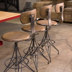 Bar Chairs Concrete Outdoor Single Glider Chair Rebar  Vintage Industrial Furniture