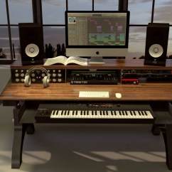 Benches For Kitchen Table Lowes Tiles Hure Recording Studio Keyboard Desk – Vintage Industrial ...