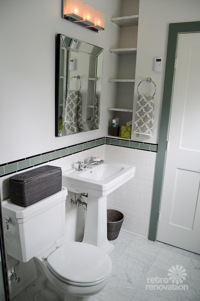 Amys 1930s bathroom remodel  classic and elegant  Retro