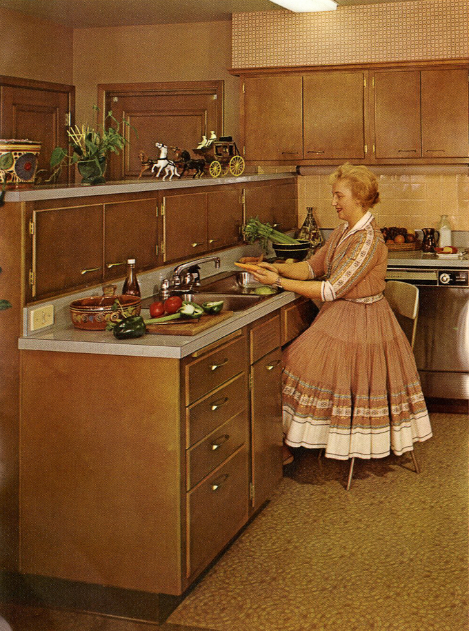 wood mode kitchen cabinets tiny remodel kitchens from 1961 slide show of 15 photos retro enjoy the these are also great fun to scrutinize for design ideas and accessories vintage