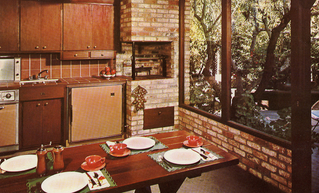 retro kitchen tile backsplash small butcher block table decorating a 1960s - 21 photos with even more ...