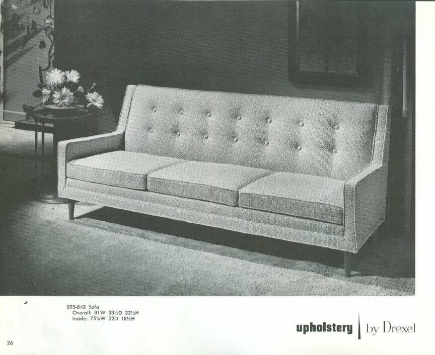 Drexel Profile upholstered furniture from 19591960