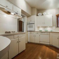 Oak Kitchen Cabinet Modern Clocks For 1956 Dallas Time Capsule House With Jack 'n Jill Bathroom ...
