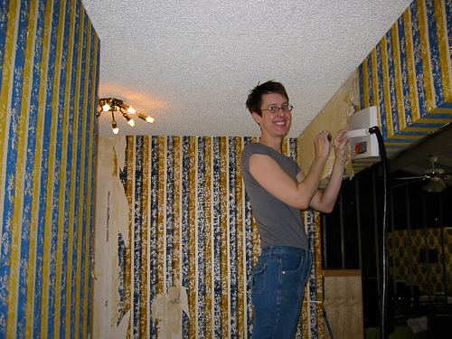 orange kitchen wallpaper rv faucets what color should heidi paint her hallway? she's keeping ...