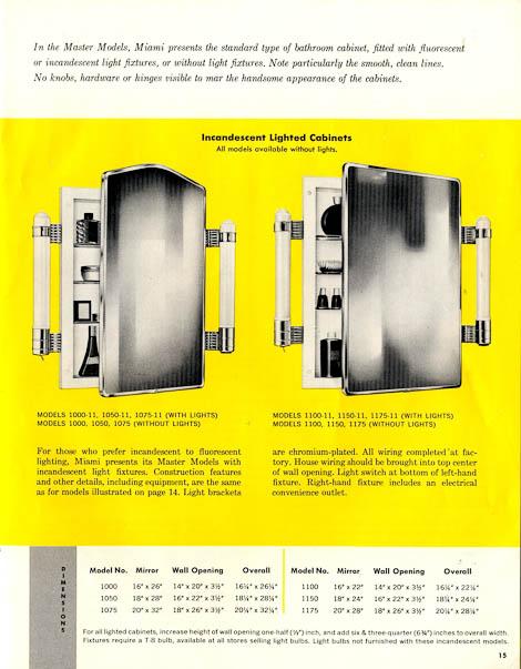 42 vintage medicine cabinets from MiamiCarey circa 1955