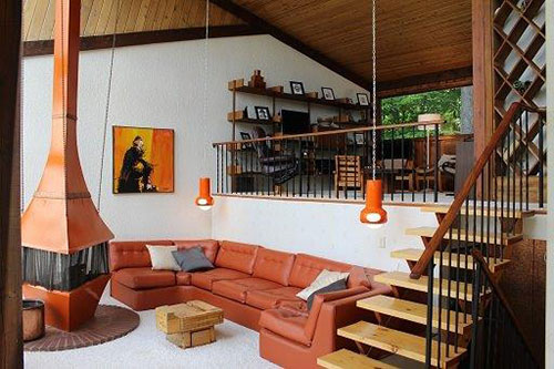 That 70s Ski Chalet  groovalicious time capsule house